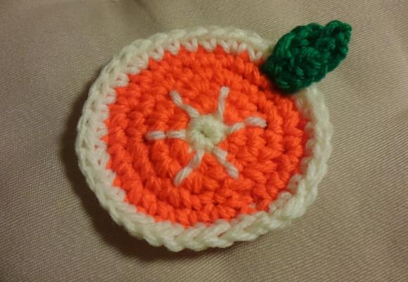オレンジ葉っぱ付き