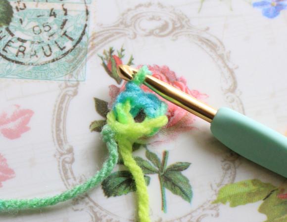 鎖編みの輪