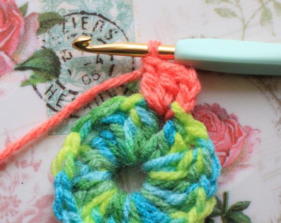 鎖編み3目と長編み