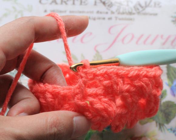 引き上げ編み