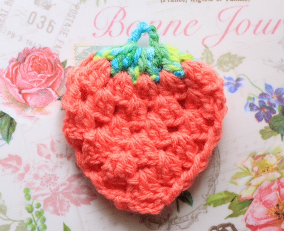 いちごのエコたわしの編み方