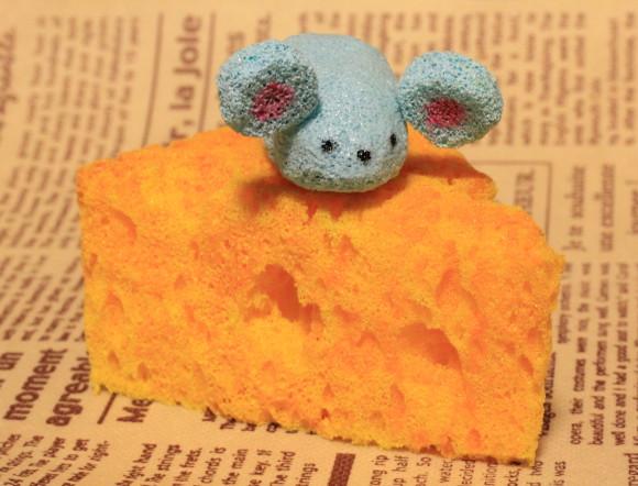 チーズとねずみのスクイーズ