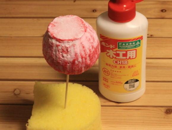 ボンドを使って作るりんご飴スクイーズ