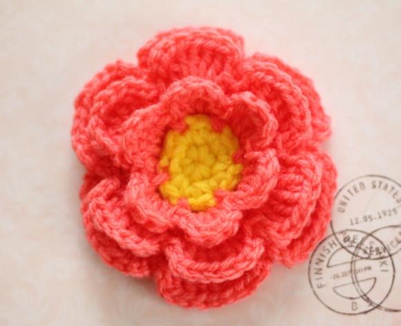 立体の花の編み方