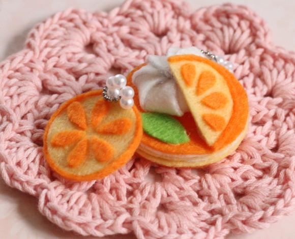スイーツフェルトキット オレンジムースケーキ